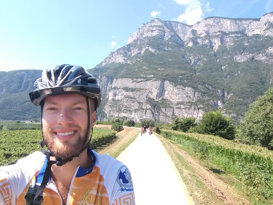 Van Rome naar Nederland op de fiets